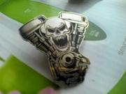 Металлический значок для байкеров Хранитель двигателя